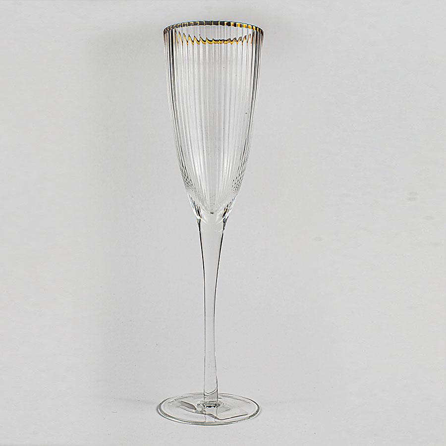 Copa para champang borde dorado