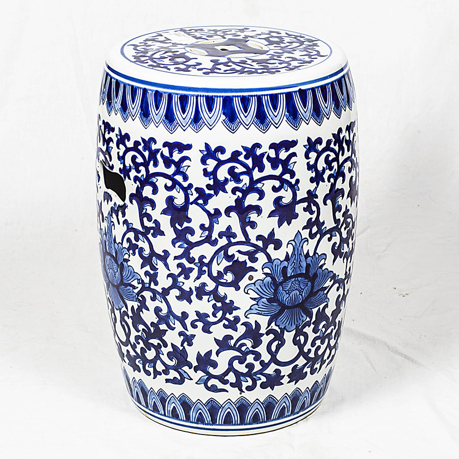 Puff ceramica de color azul